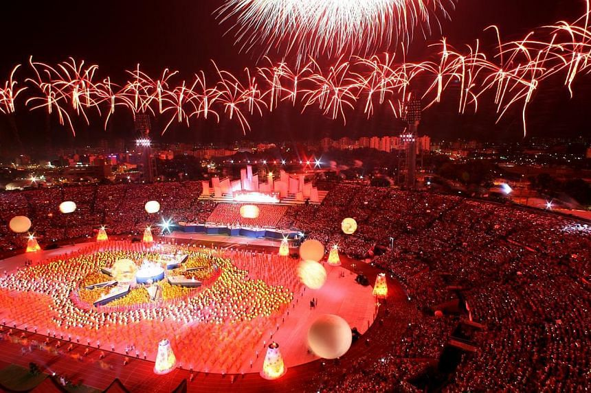 5. A 2006 shot of fireworks at the last National Day Parade held at the National Stadium. -- ST FILE PHOTOS