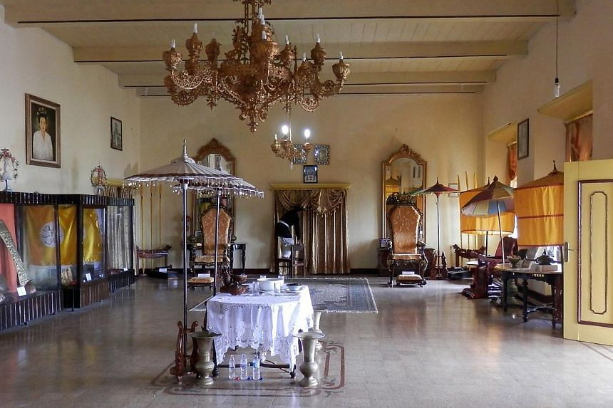 Part of the Sultan's kedaton or palace (above) in Ternate is today a museum displaying various regalia as well as portraits and a genealogical tree of past sultans. -- ST PHOTO: ZAKIR HUSSAIN