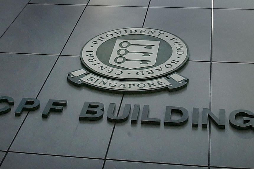 The Central Provident Fund (CPF) building on Robinson Road. -- ST PHOTO: MALCOLM MCLEOD