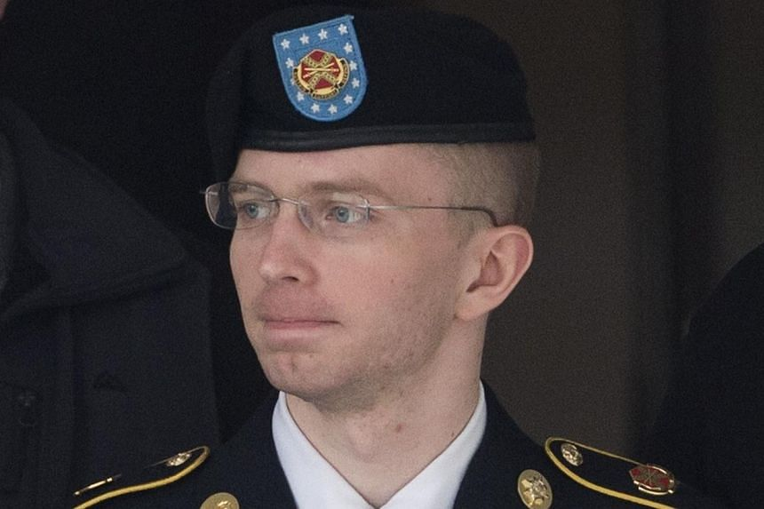 This Aug 20, 2013 file photo shows US Army Private First Class Bradley Manning departs a US military court facility as the sentencing phase continues in his trial at Fort Meade, Maryland.The detained US soldier convicted of leaking a trove of s