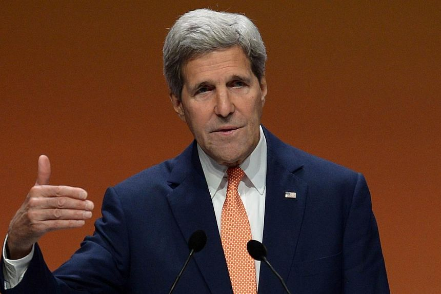 US Secretary of State John Kerry speaks during a press conference at the end of the Global Summit to End Sexual Violence in Conflict in London on June 13, 2014. US Secretary of State John Kerry launches an unprecedented global effort Monday to s