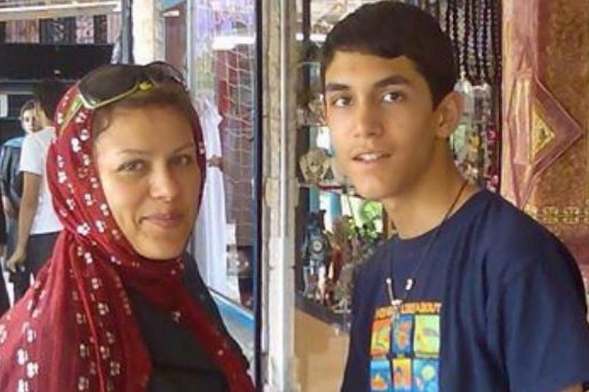 Madam Niloufar Vaezi Tehrani with her son Pouria. -- PHOTO: THE STAR