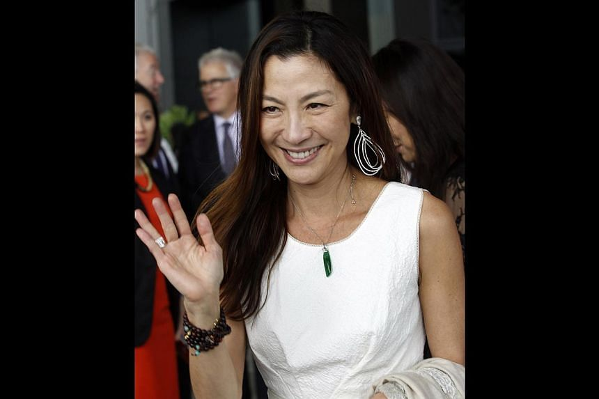 Massive television studios are among the offerings at the new Pinewood Iskandar Malaysia Studios, whose opening was attended by stars such as actress Michelle Yeoh (above). -- ST PHOTO: CHEW SENG KIM