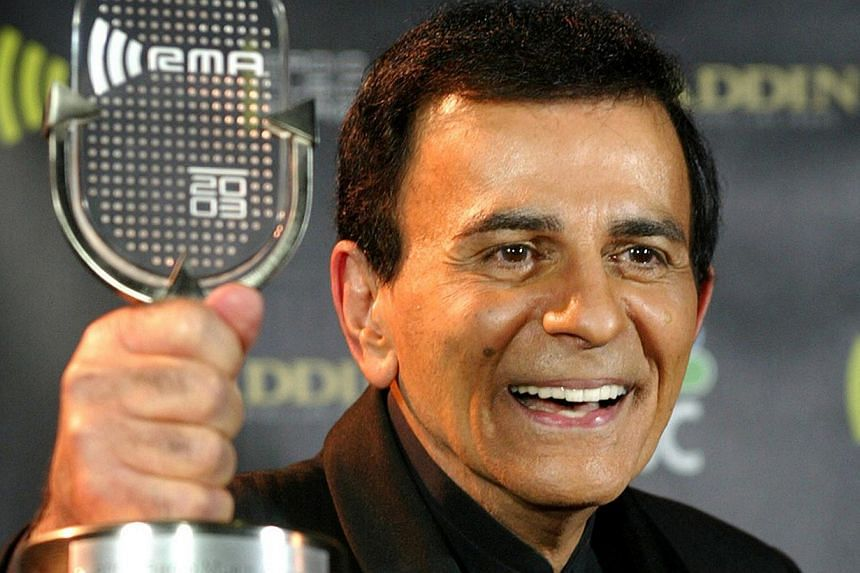 Casey Kasem won the Radio Icon Award at the 2003 Radio Music Awards in October that year. -- PHOTO: REUTERS