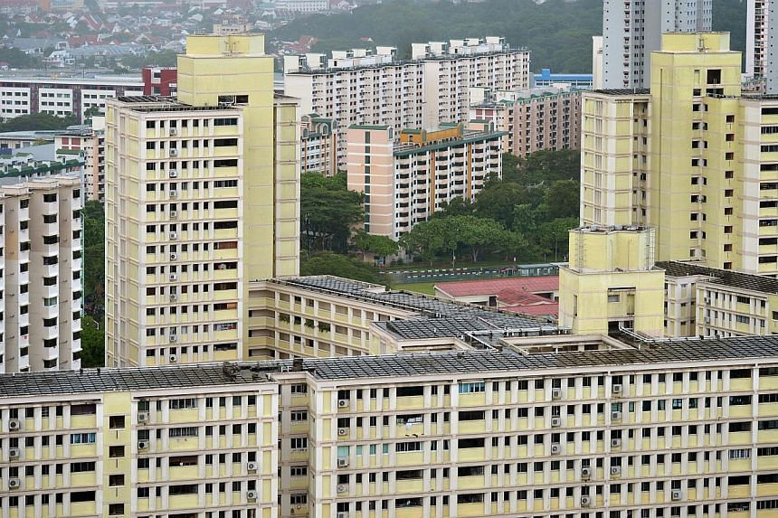 As of June, only about 1 per cent of Housing Board neighbourhoods and blocks have reached the quota limits on subletting public flats to foreigners, the HDB told The Straits Times. -- ST PHOTO: KUA CHEE SIONG
