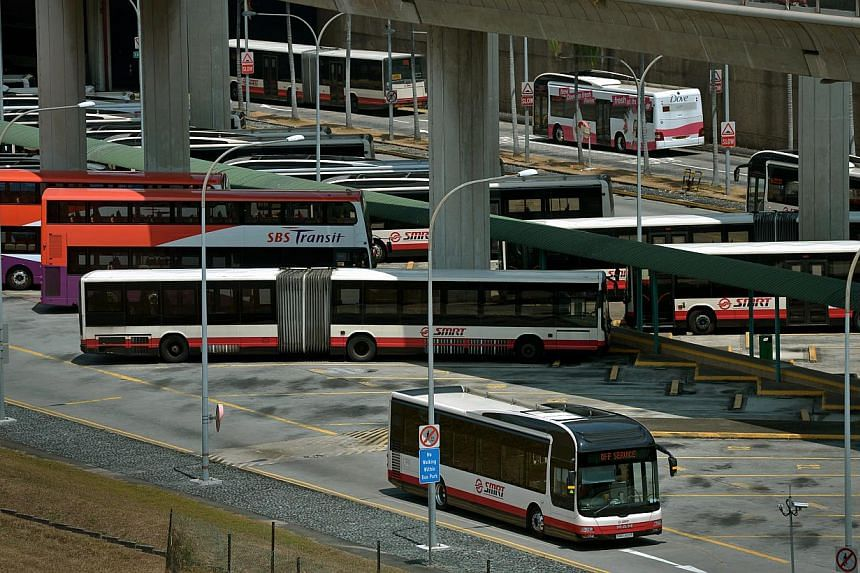 Under the trial, operators SBS Transit and SMRT are given a baseline excess wait time (EWT) for selected bus services. The EWT is the additional time commuters spend waiting for a bus on average when it does not arrive at its schedule timing. -- ST P