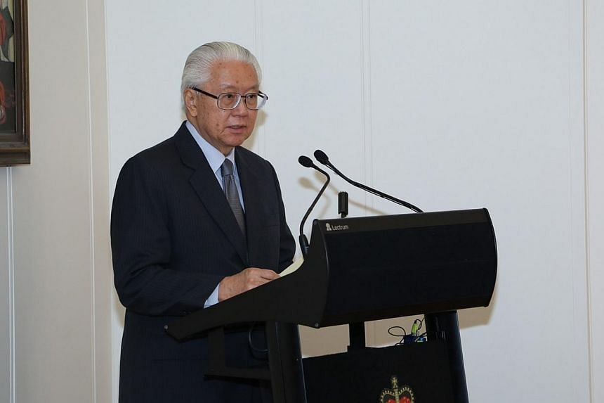 President Tony Tan Keng Yam was on Tuesday, June 17, 2014, conferred an honorary doctorate by his alma mater, the University of Adelaide. -- PHOTO: MCI