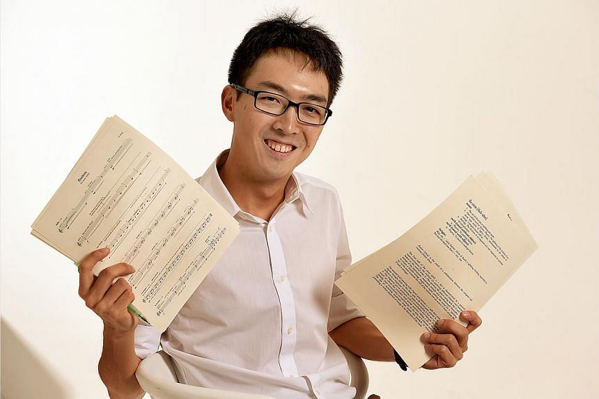 Composer Lu Heng (above) arranges works of others for ensembles such as Singapore Wind Symphony's Jeremy Monteiro concert on July 20. The Singapore Chinese Orchestra will play one of Phang Kok Jun's works at its June 28 concert. -- PHOTO: LAU FOO