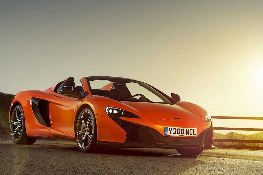 A McLaren 650S Spider similar to the one above was involved in the accident. There are only about 60 McLaren vehicles on the road here. The driver of the tipper truck (above) was injured in the head but the occupants of the car were unhurt. It is und