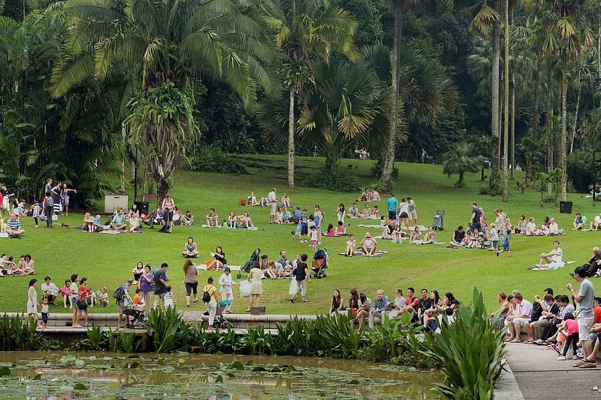 Singapore Botanic Gardens has again been ranked the number one park in Asia in the TripAdvisor Travellers' Choice Awards for attractions. -- ST PHOTO: DESMOND WEE