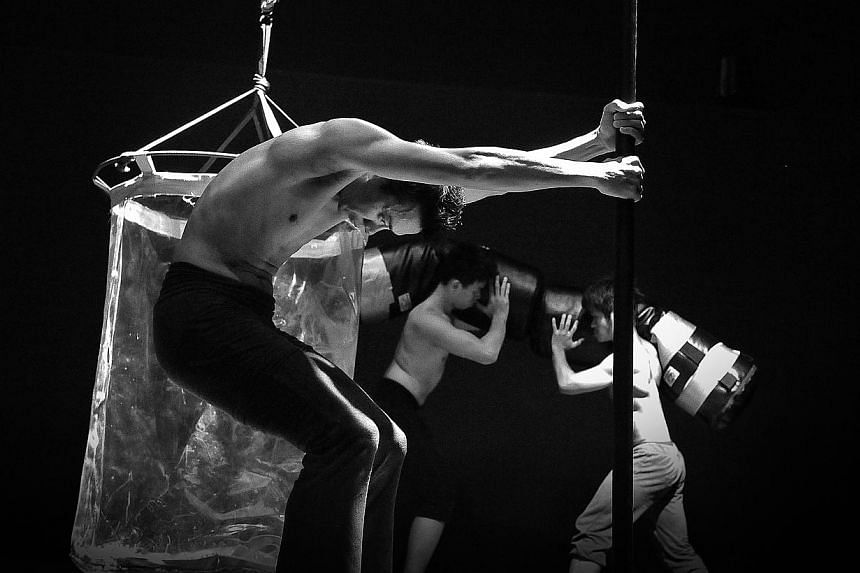 Nay Nai, a dance performance conceptualised by Thai dancerchoreographer Pichet Klunchuni, styled as a high-energy reality television competition, with four dancers and four segments. -- PHOTO: NATTAPOL MEECHART