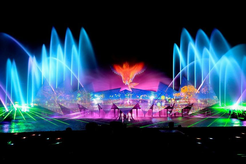 The new show, Wings Of Time, features robotic water fountains and pyrotechnics. -- PHOTO: ECA2
