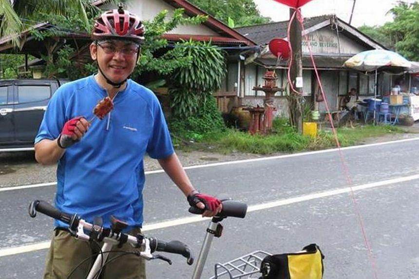 Mr Arthur Yap, 48, was killed on Sunday when his bicycle collided with a bus near Johor's Legoland theme park. -- PHOTO:ARTHUR YAP/FACEBOOK
