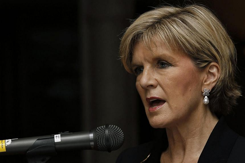 """Australia's Foreign Minister Julie Bishop speaking at the Australian ambassador's residence in Tokyo on June 12, 2014. Ms Bishop has expressed her concern about 150 Australians learning the """"terrorist trade"""" fighting alongside Sunni militants in Iraq"""