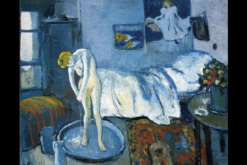 Pablo Picasso's The Blue Room, painted in 1901. -- PHOTO: WIKIART.ORG