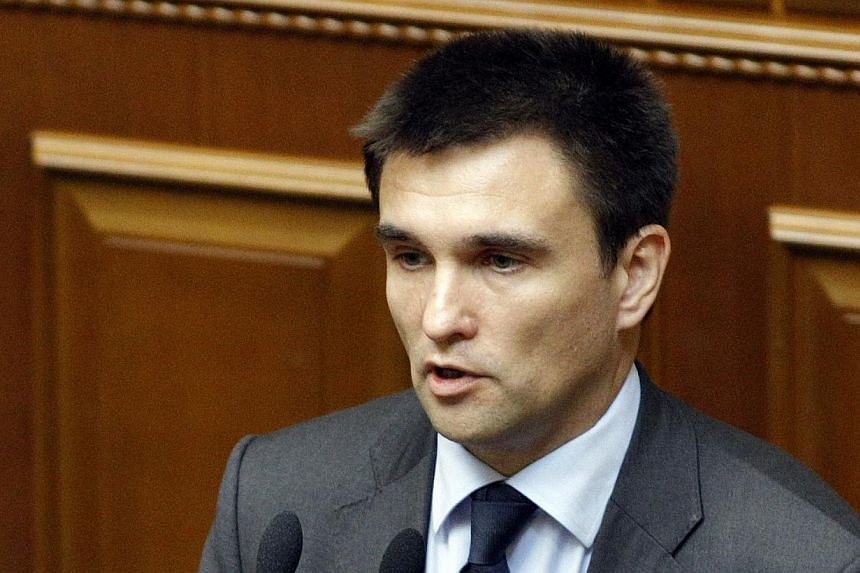 Ukraine's newly appointed Foreign Minister Pavlo Klimkin speaks during a session of parliament in Kiev on June 19, 2014.Ukraine's parliament on Thursday, June 19, 2014, confirmed Kiev's negotiator with Moscow as foreign minister in a boost for