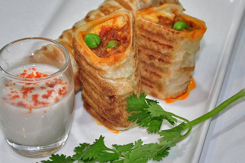 Grilled Roulade Prata is a dish that will be served at Suvai, a carnival set up by the Indian Chefs and Culinary Association for the Singapore Food Festival. -- PHOTO: SUVAI