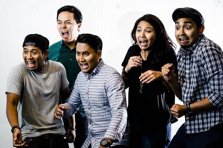 The Livid Sun's (from far left) Hairul Fazree Sardi, 30, bassist; Lionel Liu, 28, guitarist; Abdullah Abdul Hadi, 29, guitarist; Maisarah Abdol Rahim, 27, vocalist; and Ashri Zainal Shaynaynal, 28, drummer.