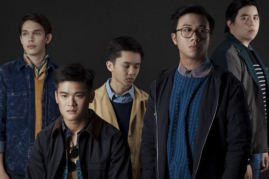 Stopgap's (from far right) Eldad Isaac Leong, 24, drummer; Calvin Phua, 23, guitarist; Grayson Seah Jian Xing, 23, bassist; Lee Yewjin, 23, guitarist; and Adin Kindermann, 23, vocalist.