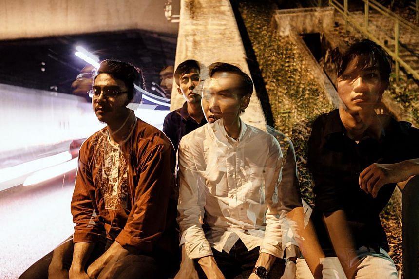 Sphaeras' (from far left) Zakhran Khan, 22, drummer; Wun Chun Kit, 23, guitarist; Ong Qi Min, 26, bassist; and Lek Hao Kai, 21, guitarist.