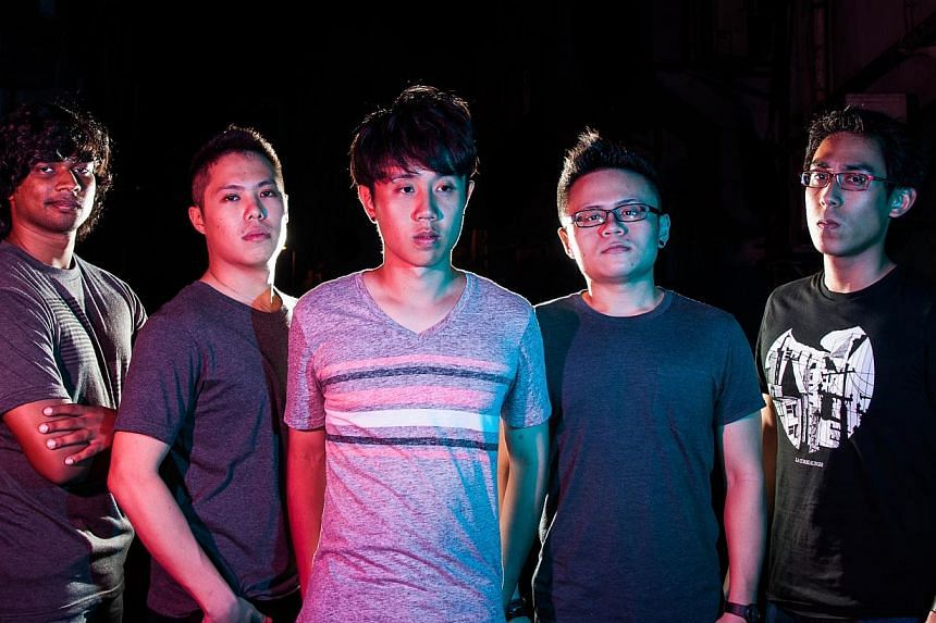wyd:syd's (from far left) Aaron Pereira, 23, bassist; Jared Oh, 24, drummer; Marcus Tan, 23, vocalist; Eugene Huang, 24, guitarist; and Ridhwan Malik, 24, guitarist.