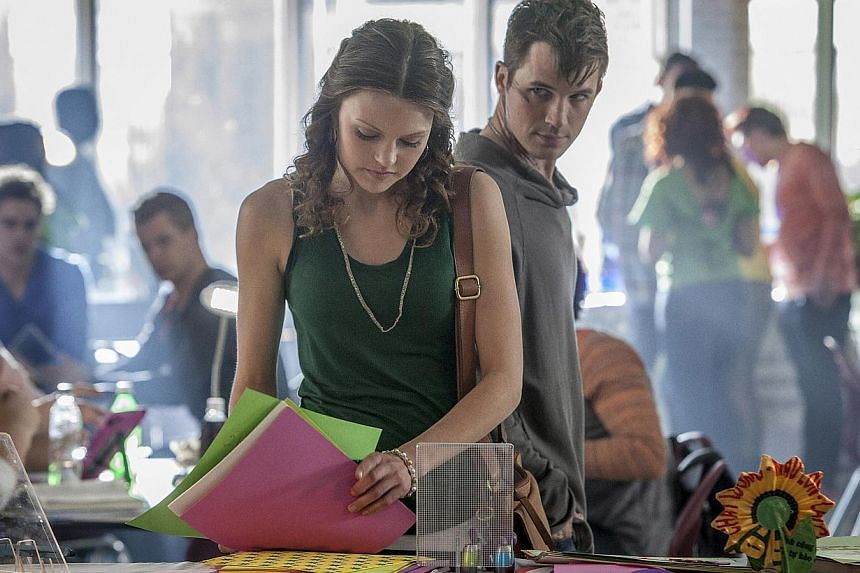 Matt Lanter as the anointed alien leader of his race who meets and falls for human Aimee Teegarden (both left) in Star-Crossed. -- PHOTO: ©2014 THE CW NETWORK, LLC