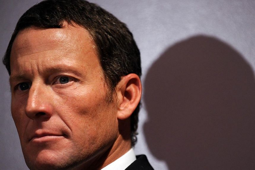 A picture taken on Feb 28, 2011 shows US cyclist Lance Armstrong attending a press conference in Los Angeles. -- PHOTO: AFP