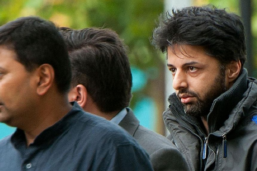 British businessman Shrien Dewani, seen here (right) in London in 2011, was extradited from Britain in April after losing a three-year battle to avoid trial in South Africa over the death of his wife Anni, shot dead in a taxi in November 20