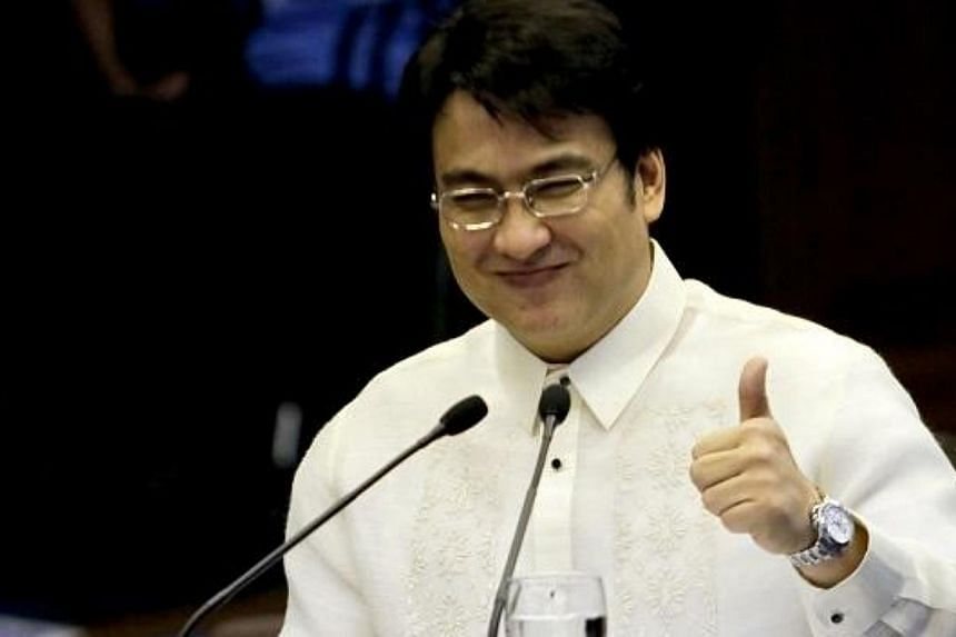 "Senator Ramon ""Bong"" Revilla, a popular movie actor here, is accused of channelling millions of dollars of public funds into bogus organisations in return for huge kickbacks. -- PHOTO: PHILIPPINE DAILY INQUIRER/ASIA NEWS NETWORK"