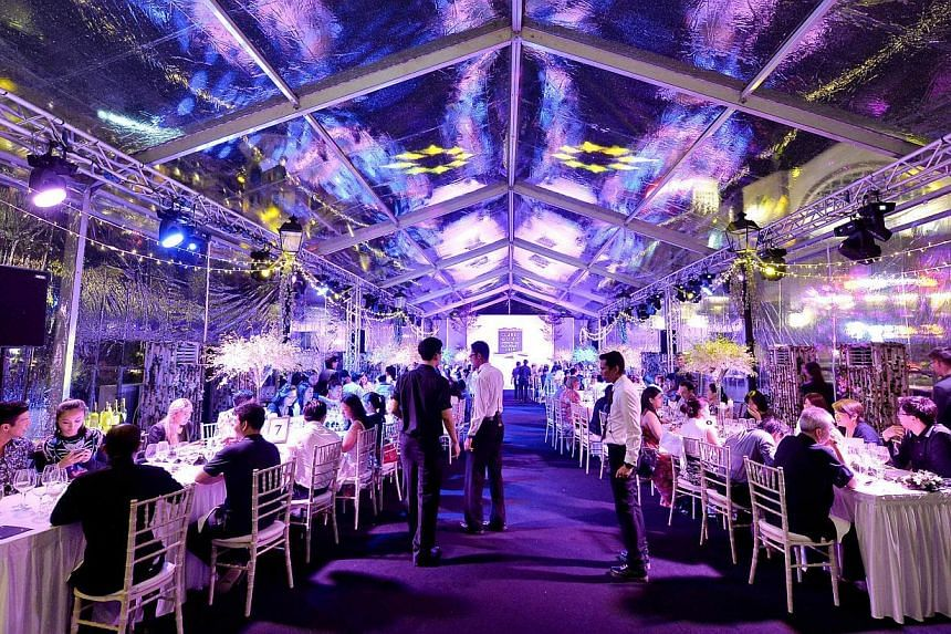 A Midsummer's Night Feast (above), a themed dining event, held recently in Clarke Quay. -- PHOTO: CLARKE QUAY