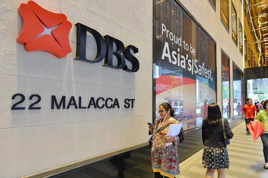 DBS branch at 22 Malacca Street. The China unit of local lender DBS Bank has helped a Southeast Asian customer based in Suzhou Industrial Park obtain a yuan-denominated loan from the bank's Singapore headquarters. -- ST PHOTO: LIM YAOHUI