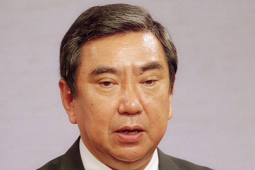 """This file photo taken on Aug 4, 1993, shows Japan's Chief Cabinet Secretary Yohei Kono announcing that the government offered apologies to victims from World War II and vowed to continue its investigation into the """"comfort women"""" issue.Japan is"""