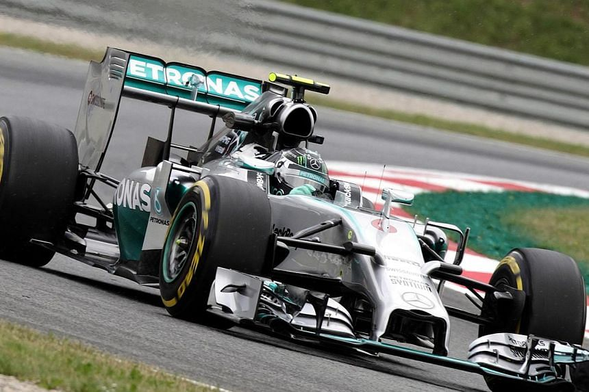 Mercedes Formula One driver Nico Rosberg of Germany drives during the first practice session of the Austrian F1 Grand Prix at the Red Bull Ring circuit in Spielberg on June 20, 2014. Formula One World Championship leader Nico Rosberg of Mercedes
