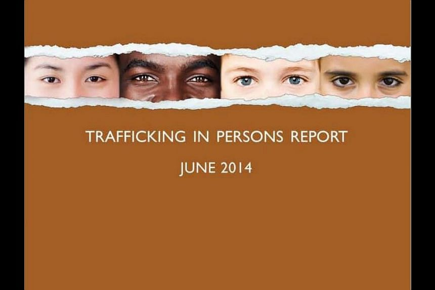 For the fourth year running, Singapore has been placed in Tier 2 of the four-tier annual Trafficking In Persons (Tip) report, released by the United States Department of State on Friday night, Singapore time. -- PHOTO: WWW.STATE.GOV