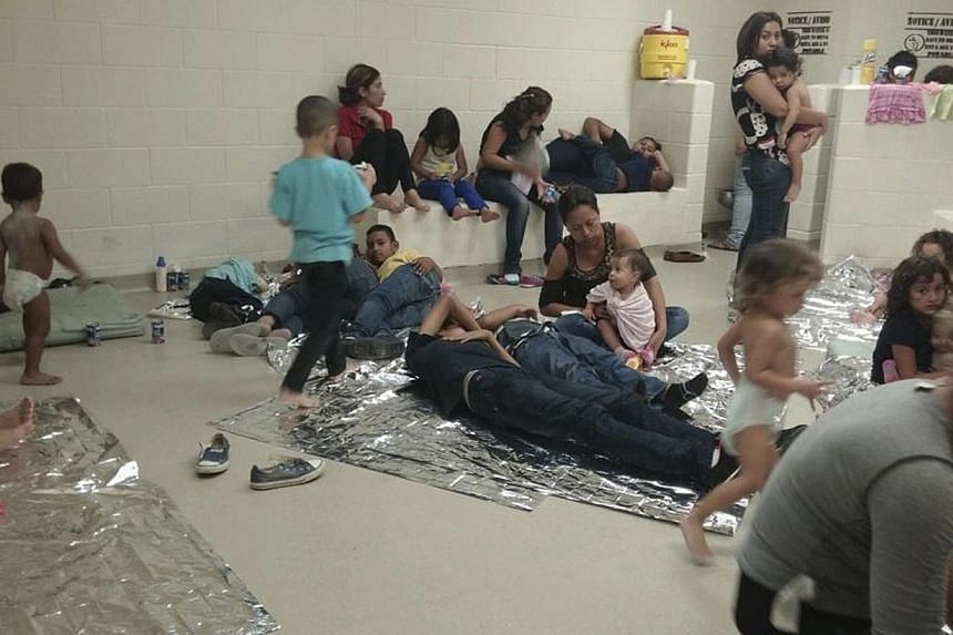 Illegal immigrants are seen at a US Department of Health and Human Services facility in South Texas in this handout photo courtesy of the office of US Representative Henry Cuellar (D-TX) taken within last two weeks and released on June 12, 2014. -- P