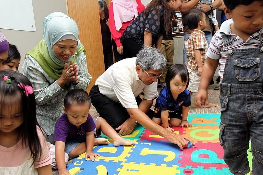 Minister-in-charge of Muslim Affairs Yaacob Ibrahimat the official opening of Mendaki@Heartlands in Pasir Ris on March 23, 2013.Malay-Muslim self-help group Mendaki ran a budget deficit for the first time in its latest financial year. --