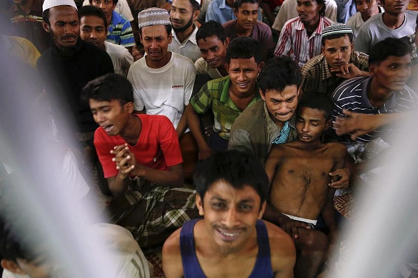 Rohingya people from Myanmar, who were rescued from human traffickers, are put up at Songkhla Immigration Detention Centre near Thailand's border with Malaysia. Thailand said on June 21, 2014 that it was very disappointed with US downgrading of the c
