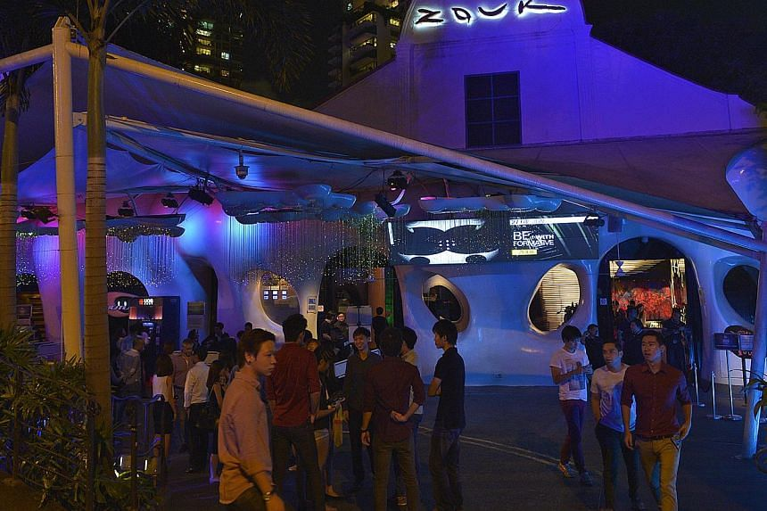 Some tourism industry people feel that the closure of Zouk would be a great loss for Singapore, which aspires to be an arts hub and entertainment capital. -- ST PHOTO: DESMOND WEE