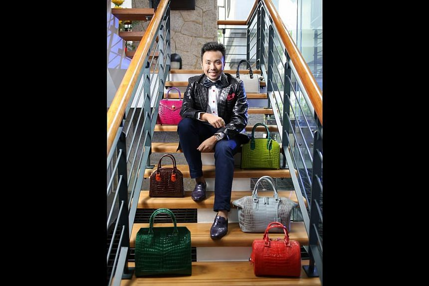 Ethan Koh's first bag was a crocodile clutch for his mum while studying at Ngee Ann Polytechnic.