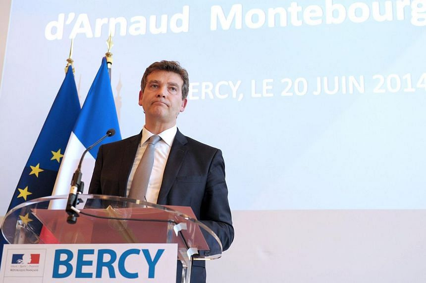 French Economy Minister Arnaud Montebourg gives a press conference regarding the bid for Alstom at the Economy ministry in Paris on June 20, 2014. -- PHOTO: AFP