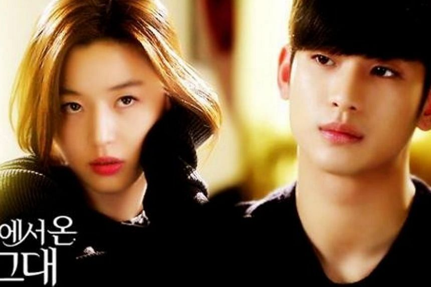 The two stars from the hit Korea drama My Love From The Star Kim Soo Hyun (right) and Jun Ji Hyun are seeking to revoke their contracts for a controversial Chinese advertisement, a move that could potentially result in tens of millions of won in pena