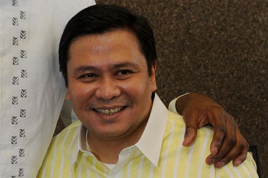 """Jose """"Jinggoy"""" Estrada, son of former Philippines president Joseph Estrada, on Monday turned himself over to police to face charges he received millions worth of kickbacks in a massive corruption scandal that has riveted the nation. -- PHOTO: AFP&nbs"""