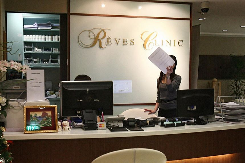Reves Clinic and its two doctors involved in the 2009 death of a patient following liposuction treatment were fined on Monday. -- PHOTO: ST FILE
