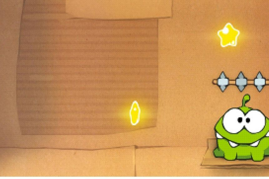 The iPhone game: Cut The Rope. -- SCREENGRAB: APPLE