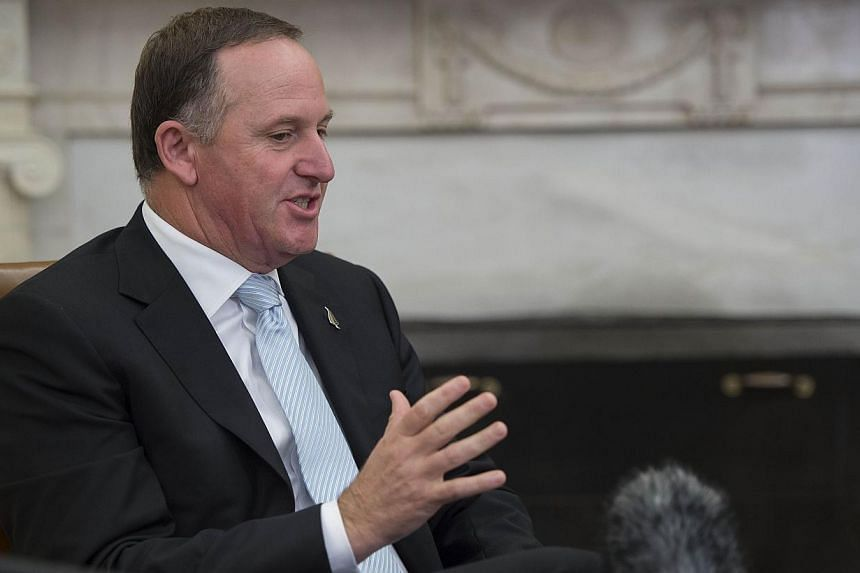 New Zealand Prime Minister John Key speaks during a bilateral meeting with the US President in the Oval Office of the White House in Washington on June 20, 2014. New Zealand Prime Minister John Key on Tuesday dismissed concerns about allowing oi