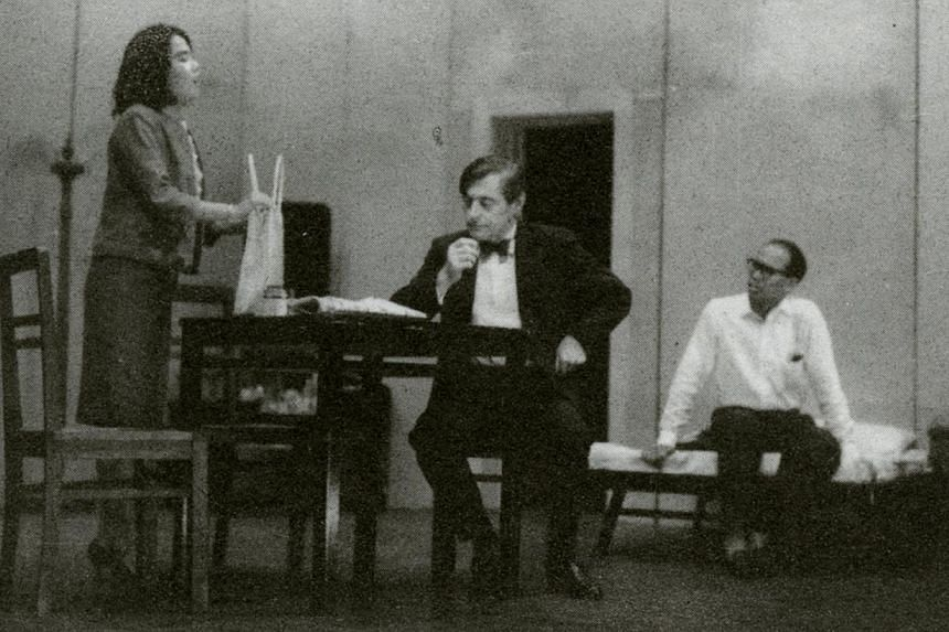 (From left) Annie Wee (nee Chin), Ronald Bloom and Lim Teong Qwee in Lim Chor Pee's play, Mimi Fan. -- PHOTO:Family of Lim Chor Pee