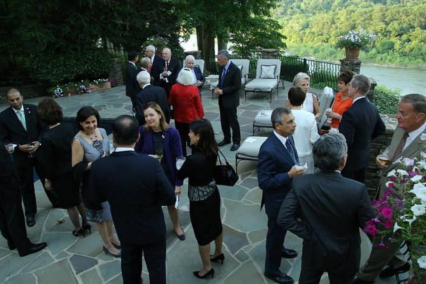 Prime Minister Lee Hsien Loong meets several US Republicans. PHOTO: MCI