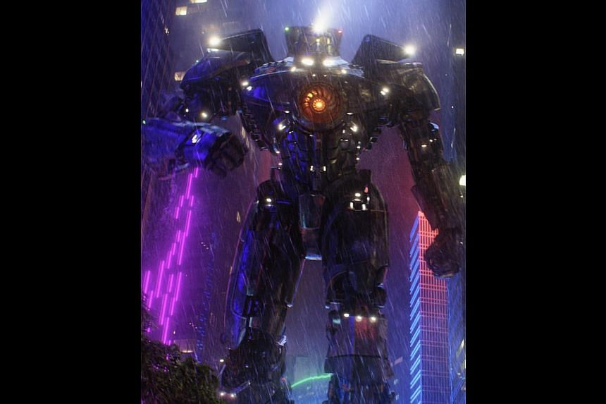 Transformers: Age Of Extinction (left) comes from a long line of science-fiction action shows with robots that include (from top) Mobile Suit Gundam, Real Steel and Pacific Rim.