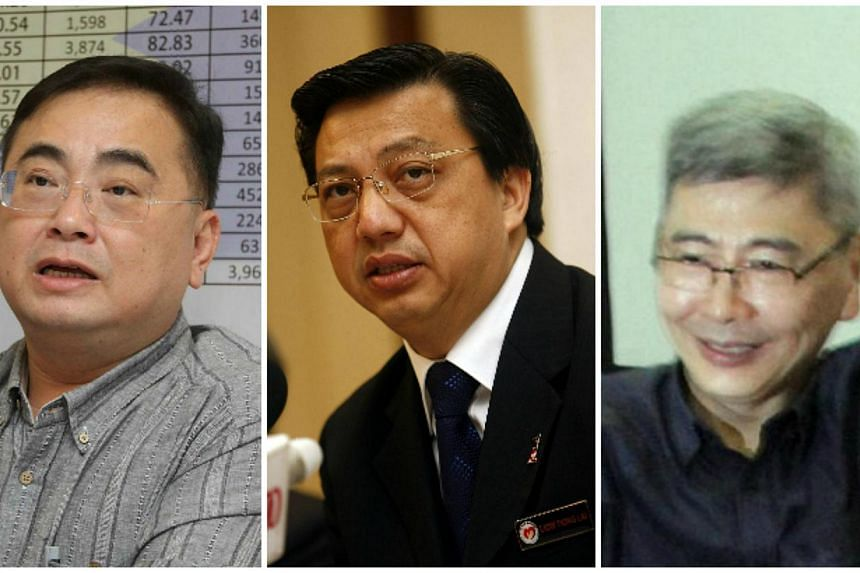 (From left) Wee Ka Siong, Liow Tiong Lai and Mah Siew Keong. -- PHOTOS: THE STAR/ASIA NEWS NETWORK