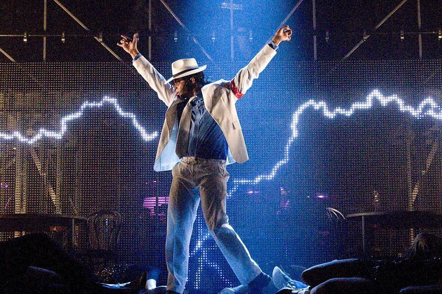 A scene from Thriller Live, a concert musical celebrating the late Michael Jackson and featuring more than two hours of his music. -- PHOTO: FLYING MUSIC